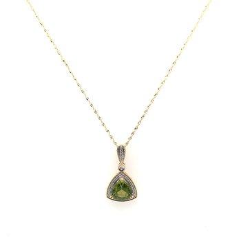 Period & Diamond Pendant Necklace