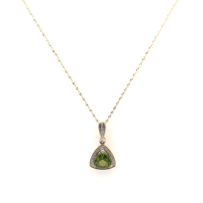 Quality Color Design Period & Diamond Pendant Necklace