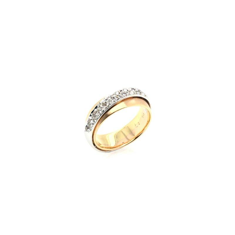 Adam K. 18k Two-Tone Diamond Ring