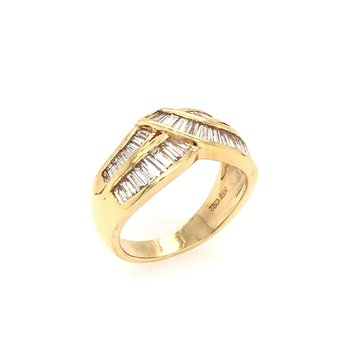 18k Diamond Baguette Ring