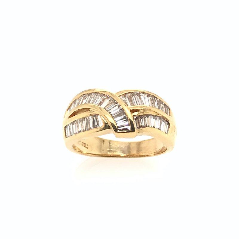 Adam K. 18k Diamond Baguette Ring