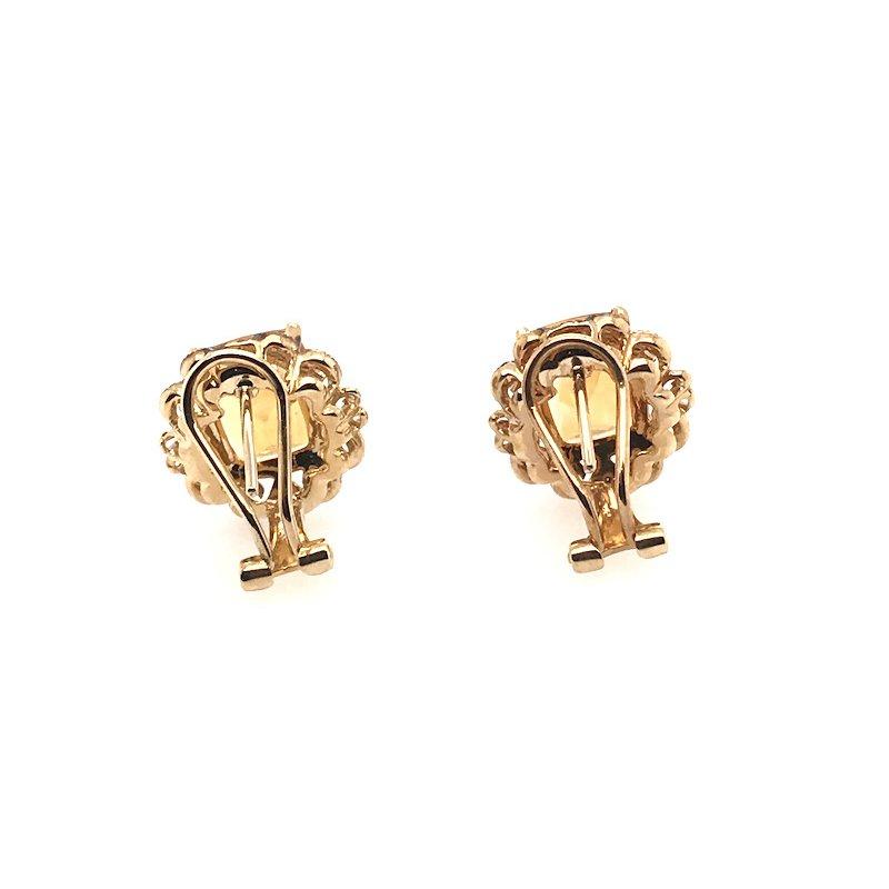 Quality Color Design Citrine & Diamond Earrings