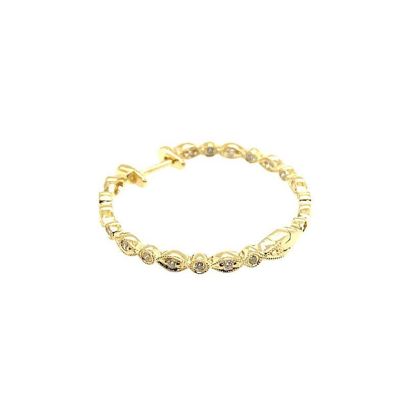 Adam K. 14k Diamond Earrings
