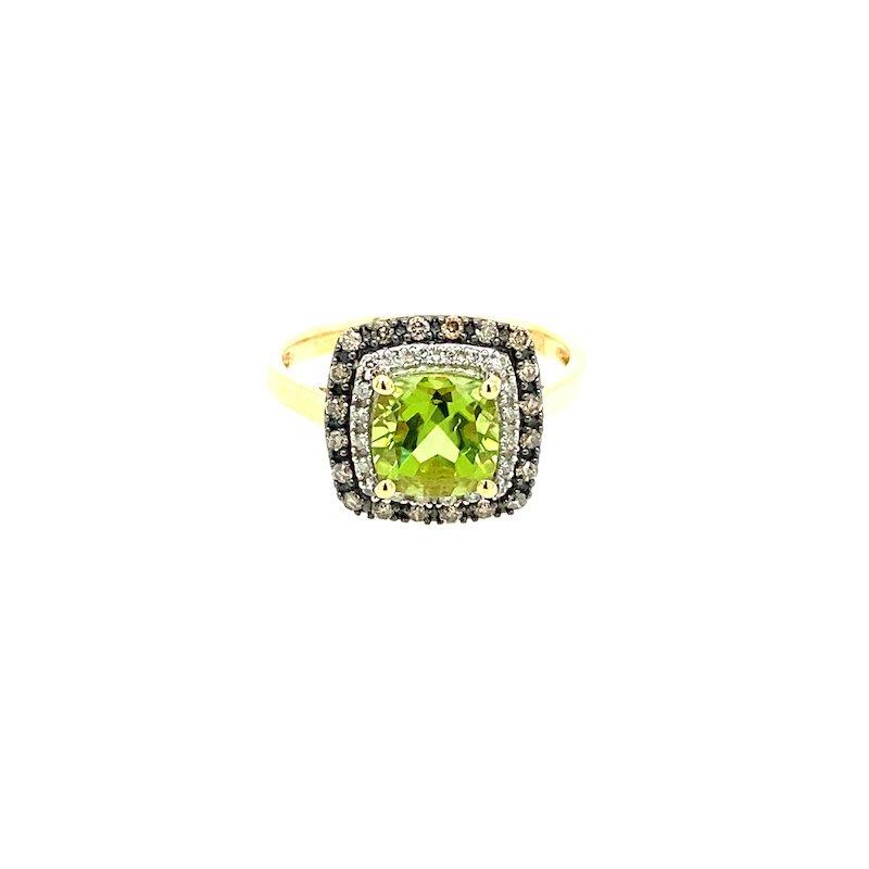 Victory Design 14k Peridot Diamond Ring