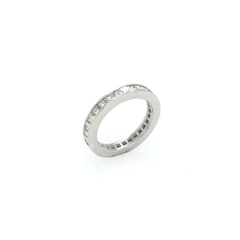Adam K. Princess Cut Diamond Anniversary Ring
