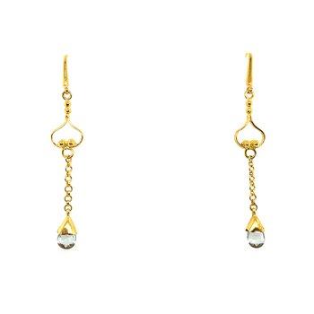 18k Aquamarine Earrings