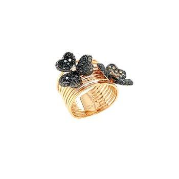 14k Diamond Flower Frivole Ring