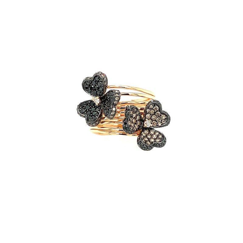 Adam K. 14k Diamond Flower Frivole Ring