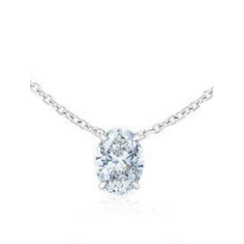 0.30ct Floating Oval Necklace