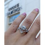 Shared Claw Diamond Engagement Ring