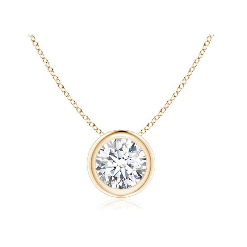 0.10ct Bezel Floating Diamond Necklace