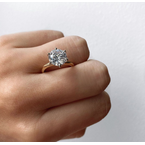 Round Brilliant Six-Prong on Solitaire Band