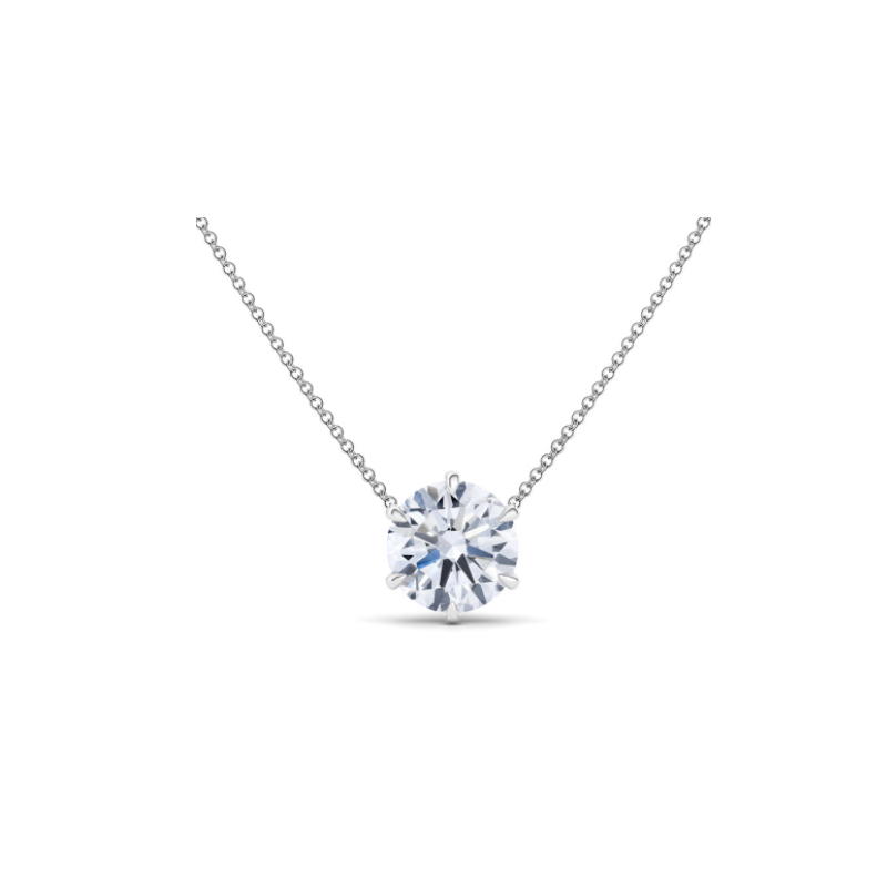 White Gold Floating Necklace