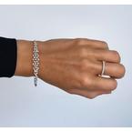 0.55ct Round Brilliant Micro Prong Diamonds Band