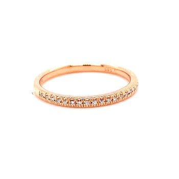 14 Karat Rose Gold Diamond Stacker Band