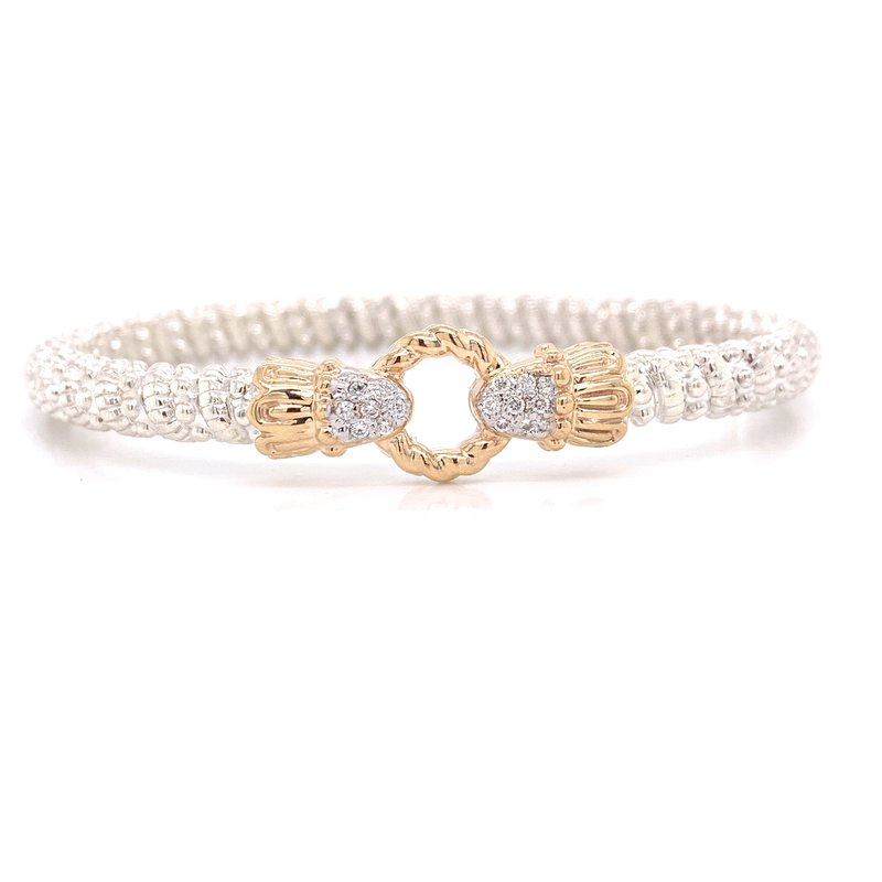 Corinth Collections  Vahan Open Circle with Diamond Pavè Accent Bracelet