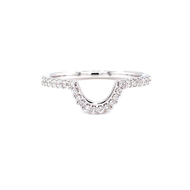Ashi Diamonds 14 Karat White Gold Curved Diamond Stacker Band