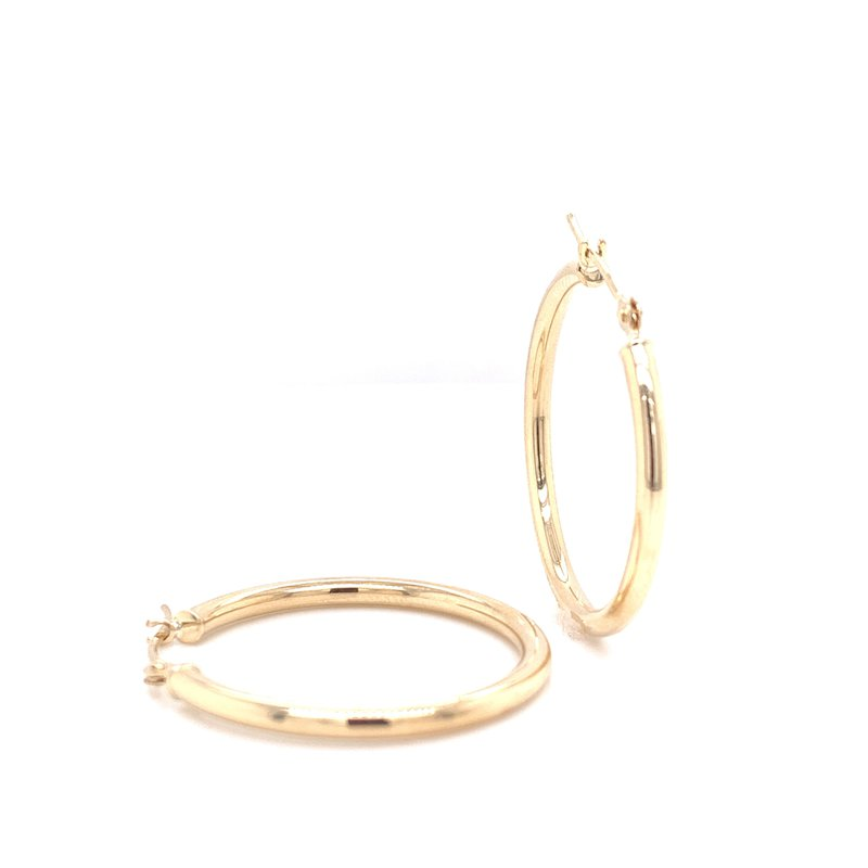 Corinth Collections  10K Yellow Gold 2x25mm Hoops
