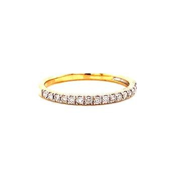 10 Karat Yellow Gold Round Diamond Stacker Band