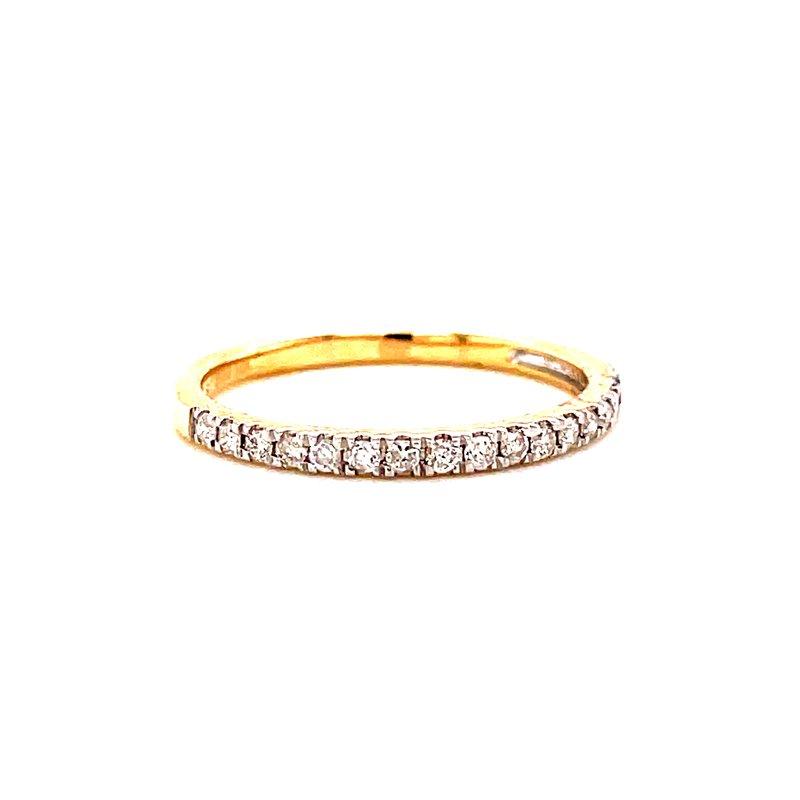 Corinth Collections  10 Karat Yellow Gold Round Diamond Stacker Band