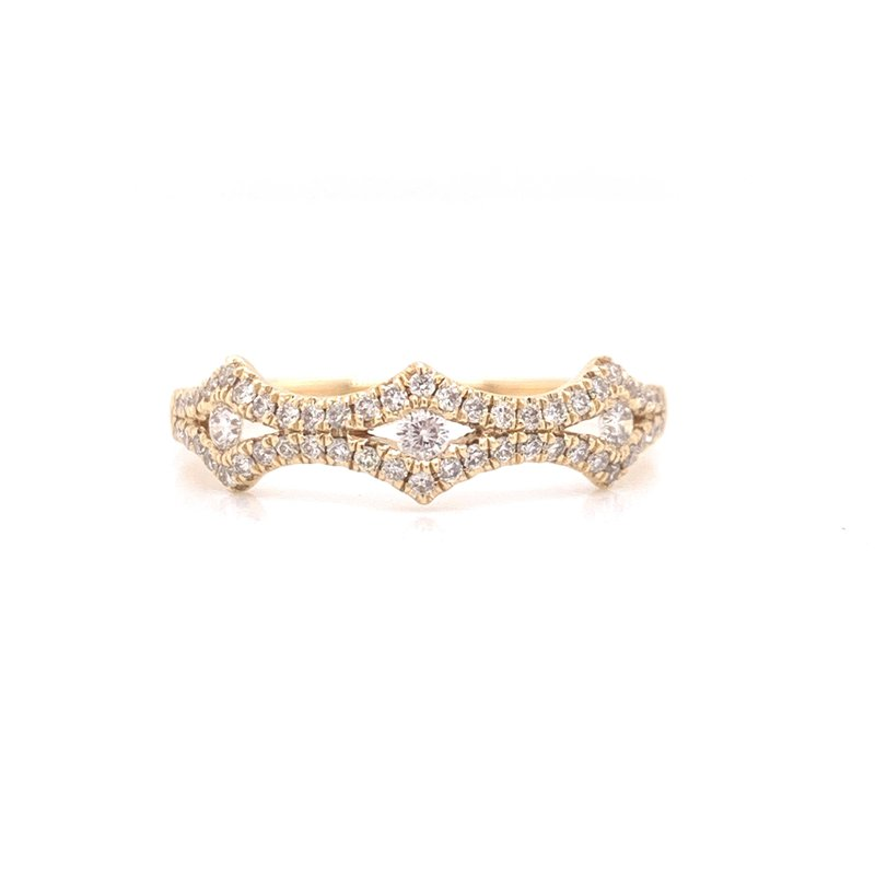 Corinth Collections  14K Yellow Gold Fancy Diamond Band