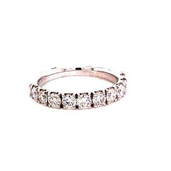 14 Karat White Gold Round Diamond Stacker Band
