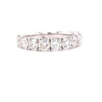 14K White Gold 1.50 cttw Round Diamond Stacker Band