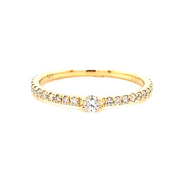 14 Karat Yellow Gold Single Diamond Fashion Band