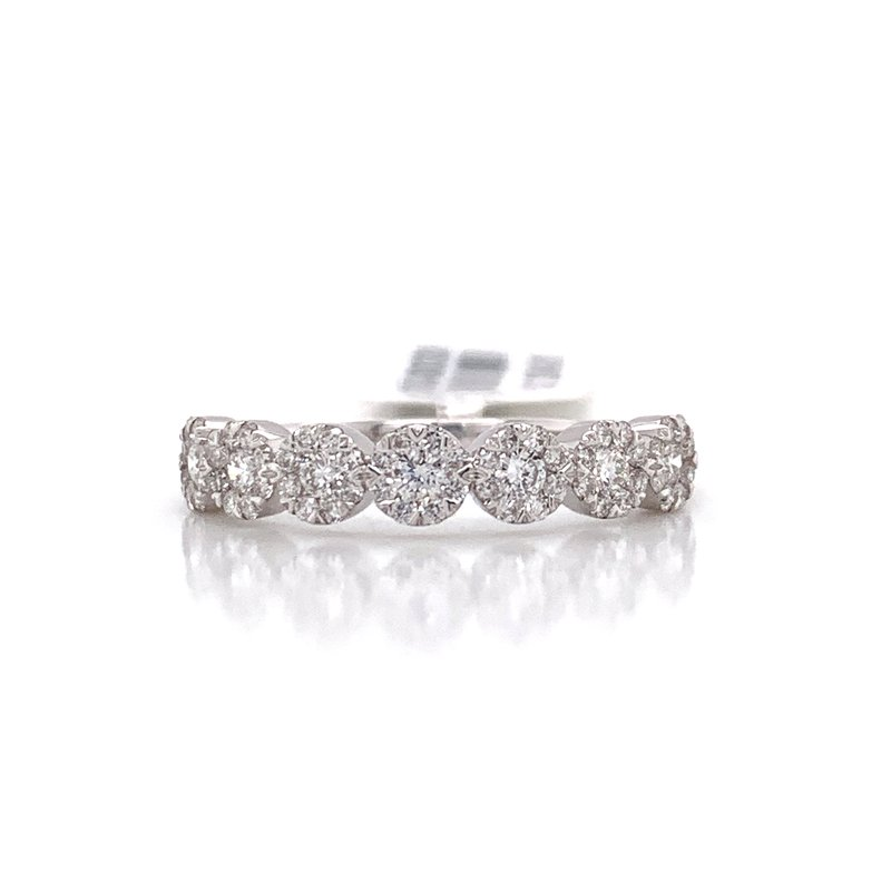 Corinth Collections  14K White Gold Love Bright Round Diamond Band
