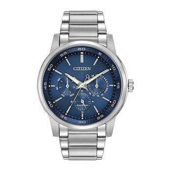 Citizen Gents Silver with Blue face Watch