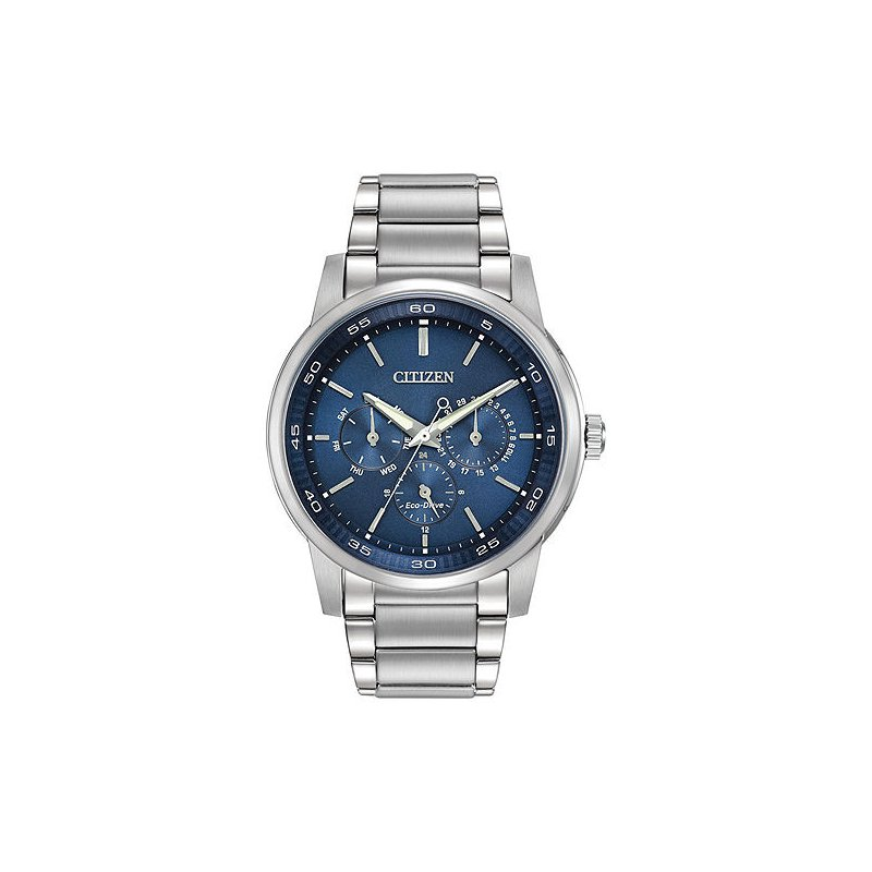 Citizen Citizen Gents Silver with Blue face Watch