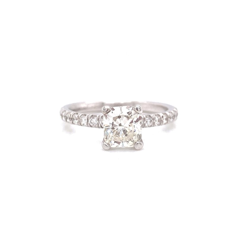Corinth Collections  14K White Gold Modified Cushion
