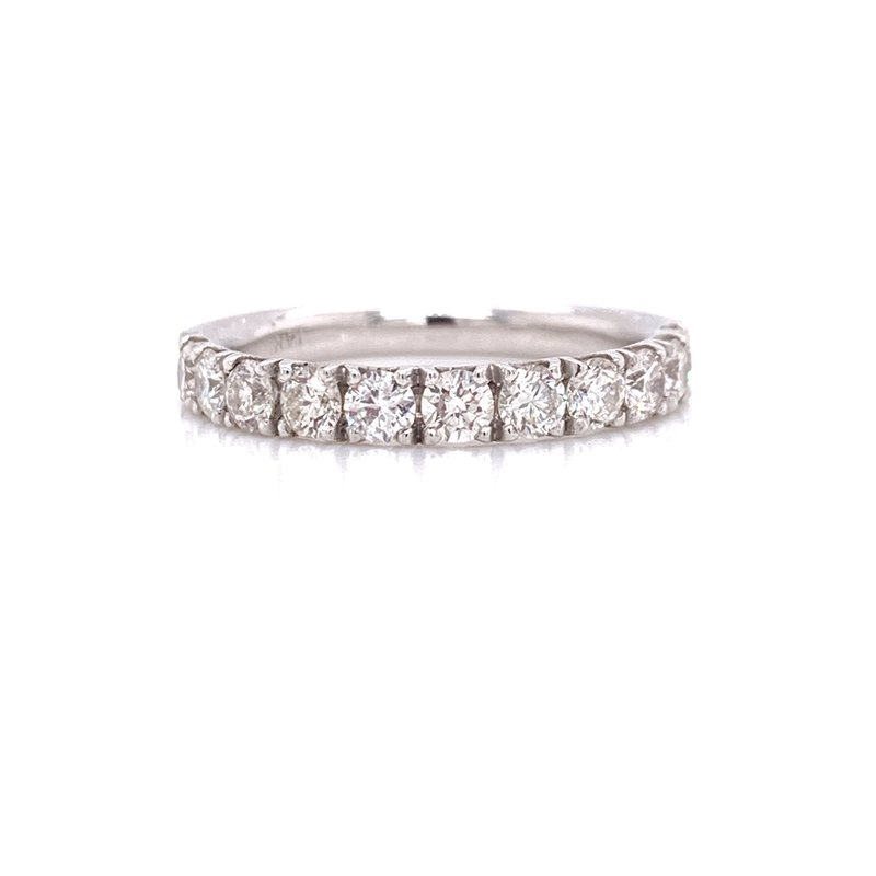 Corinth Collections  14K White Gold 0.90 cttw Round Diamond Stacker Band