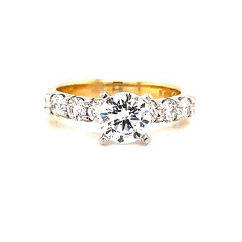 14 Karat Yellow Gold 4 - Prong Round Diamond Solitaire Engagement Ring