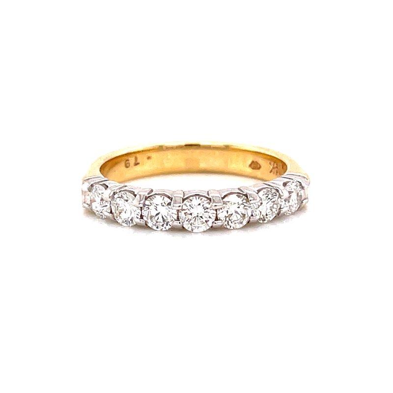 Rego Designs 14 Karat Yellow Gold Round Diamond Stacker Band