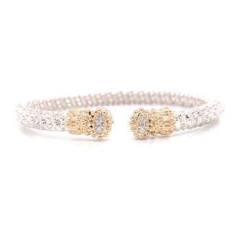 Vahan Small Closed Diamond Circle with Scalloped Edges
