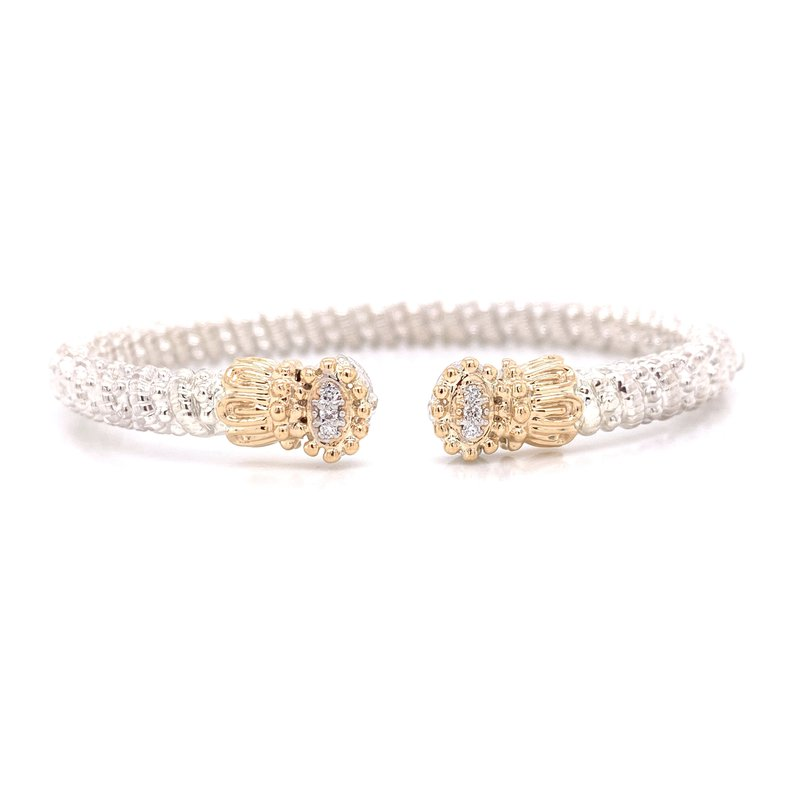Corinth Collections  Vahan Small Closed Diamond Circle with Scalloped Edges