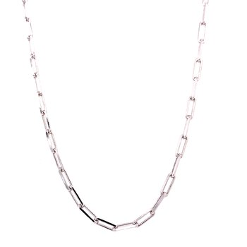 Sterling Silver Paper Clip Necklace