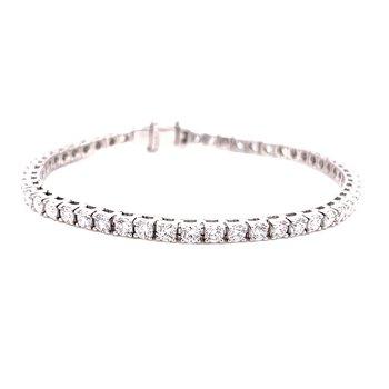 14 Karat White Gold 5ctw Round Diamond Tennis Bracelet