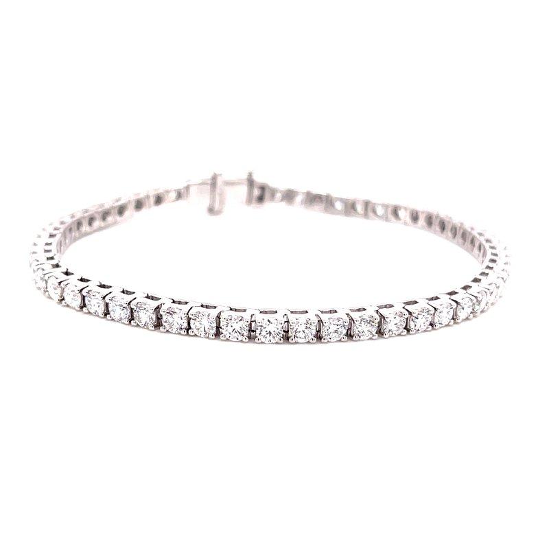 Corinth Collections  14 Karat White Gold 5ctw Round Diamond Tennis Bracelet