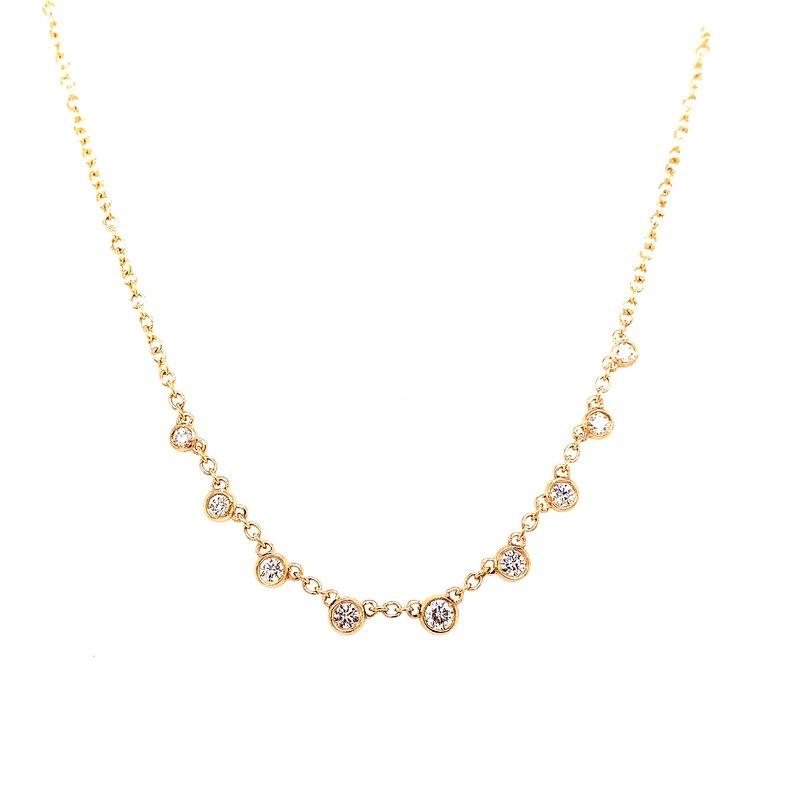 Corinth Collections  14 Karat Yellow Gold Diamond Dangle Necklace