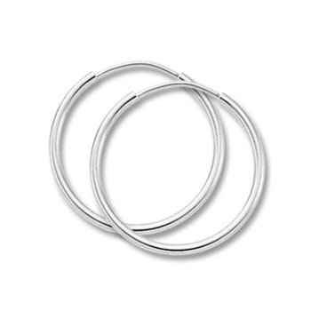Sterling Silver 3 x 50 mm Endless Tube Hoops