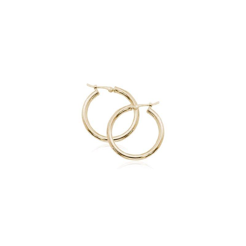 Carla 14 Karat Yellow Gold 2.5 x 20 mm Tube Hoop Earring