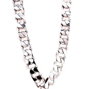 Sterling Silver Large Cuban Link Chain Necklace
