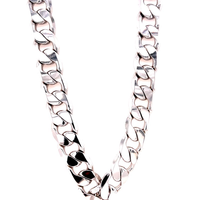 Corinth Collections  Sterling Silver Large Cuban Link Chain Necklace