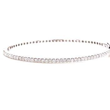 14 Karat White Gold Diamond Bangle Bracelet