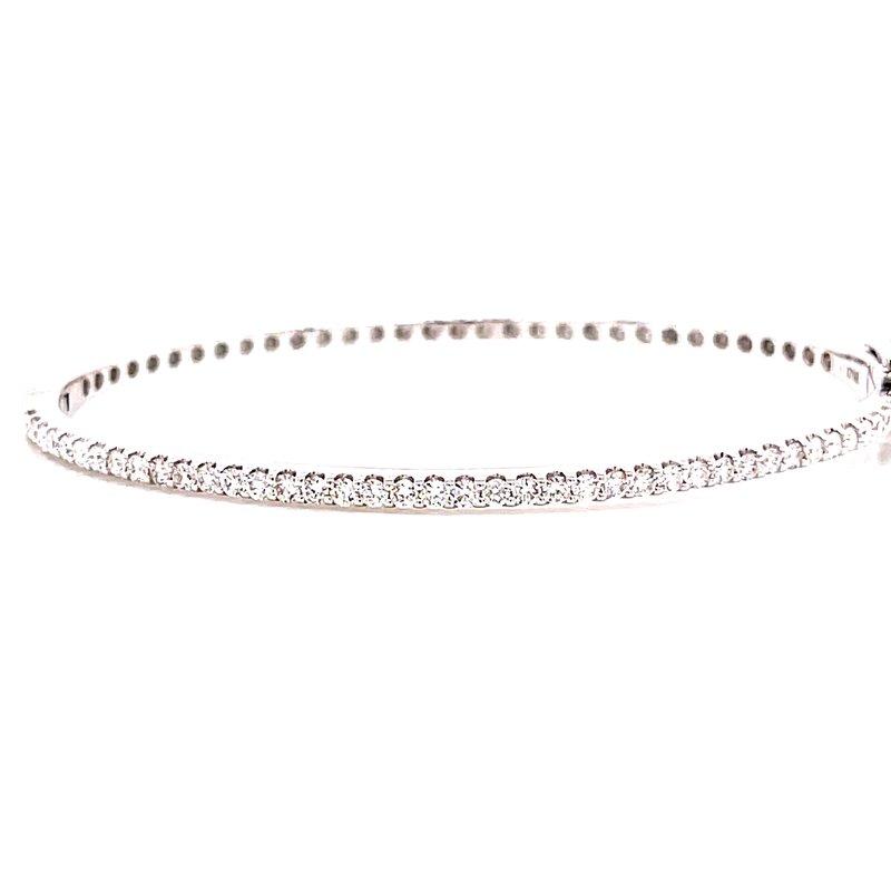 Corinth Collections  14 Karat White Gold Diamond Bangle Bracelet