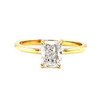 14 Karat Yellow Gold Radiant Solitaire Engagement Ring