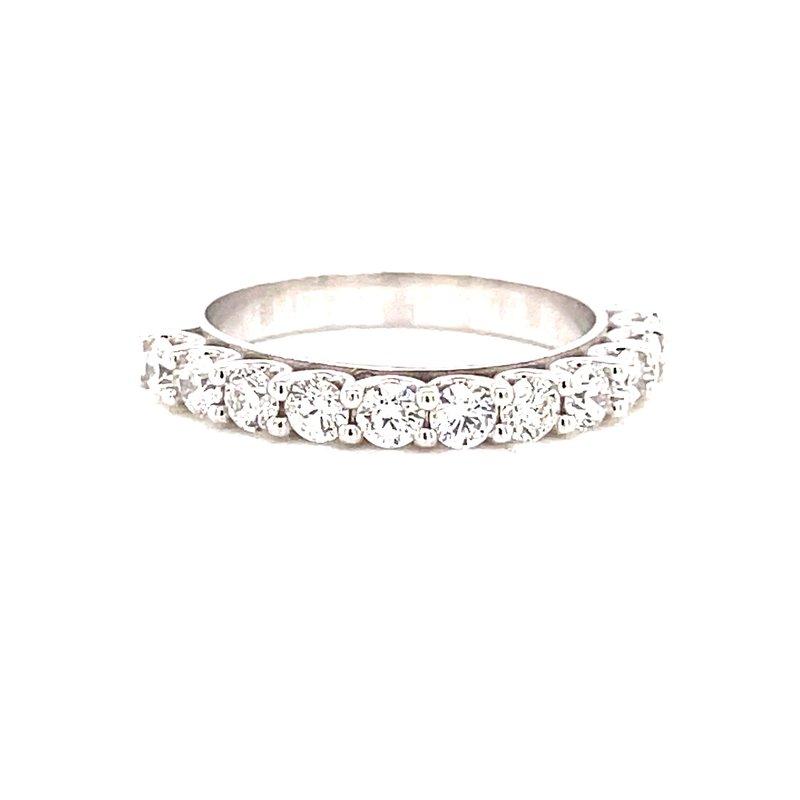 Corinth Collections  14 Karat White Gold Round Diamond Wedding Band