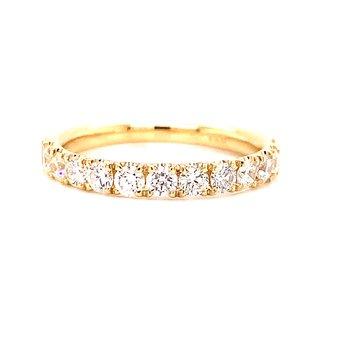 14 Karat Yellow Gold Round Diamond Stacker Band